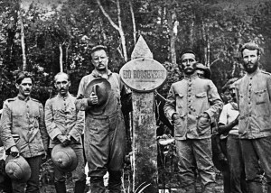 Theodore Roosevelt, Candido Rondon of Brazil at the end of their journey down the river of Doubt