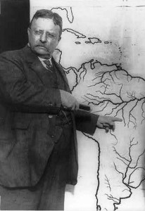 Theodore Roosevelt showing the location of the River of Doubt in Brazil