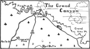 Map showing the proximity of the Anita Mine on the lower left corner to the Grand Canyon South Rm
