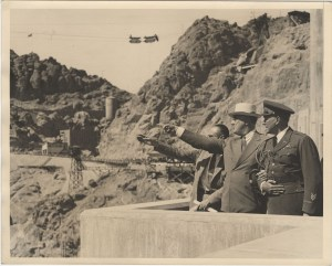 Franklin D. Roosevelt inspecting Hoover Dam before his dedication