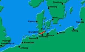 The Kiel Canal in Germany