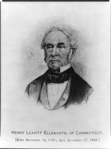 Henry Leavitt Ellsworth appointed Commissioner by Andrew Jackson