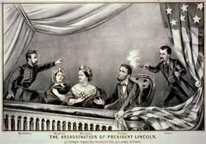 Magazine illustration of the assassination of President Abahaham Lincoln