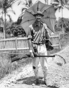William Beebe in British Guyana in 1918