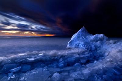 Arctic Ocean at sunset