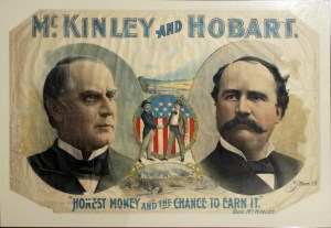 William McKinley and Garret Hobart election campaign posters in 1900