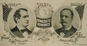 1896 Campaign poster for Democrate William Jennings Bryant