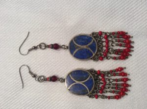 Lapis Himalayan Kuchi earrings - SEK 250