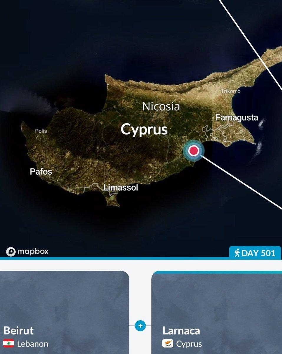 Arrival @ larnaca, Cyprus, January 18, 2019