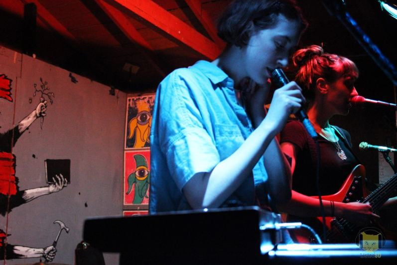 Greta Kline of Frankie Cosmos and Gabrielle Smith of Eskimeaux