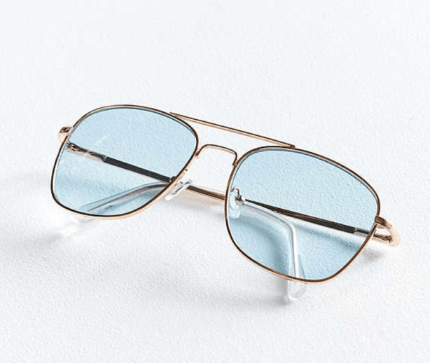 UO Far Out Translucent Metal Aviators: $16