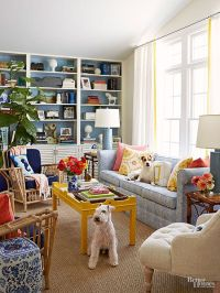 Living Room Decor : In this kicky living room, sunny ...