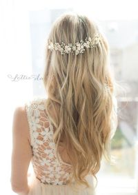 Wedding Hairstyles : long down wedding hairstyle via ...