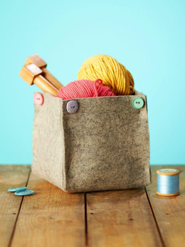 Diy Home  DIY storage ideas How to make a wool felt