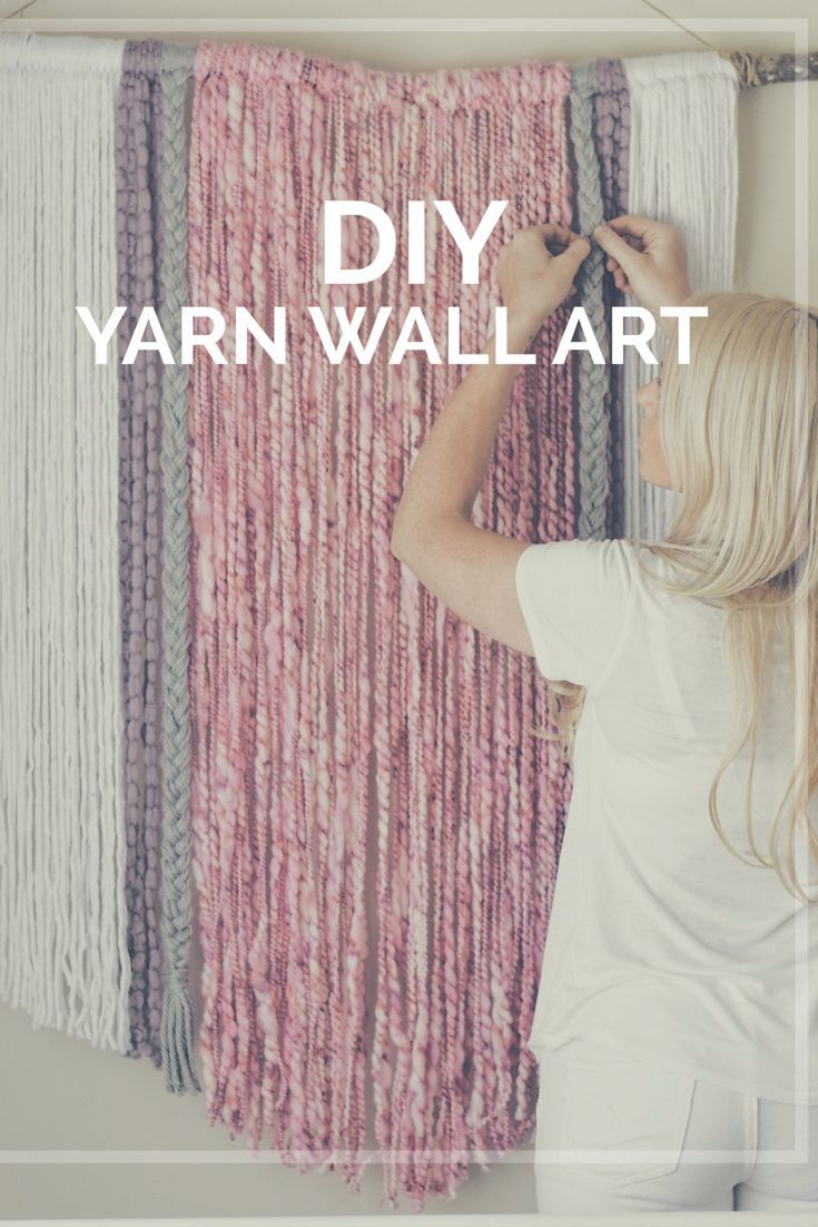 Diy Home DIY Yarn Wall Art Wall Hanging Macrame