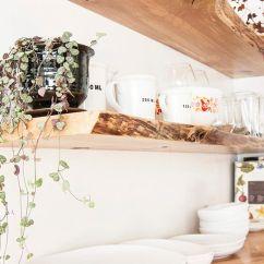 Diy Shelves In Living Room Sleeper Set Home Kitchen Live Edge Floating Shelf Bracket