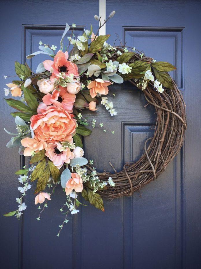 Diy Home Spring Wreaths Spring Door Decor Spring