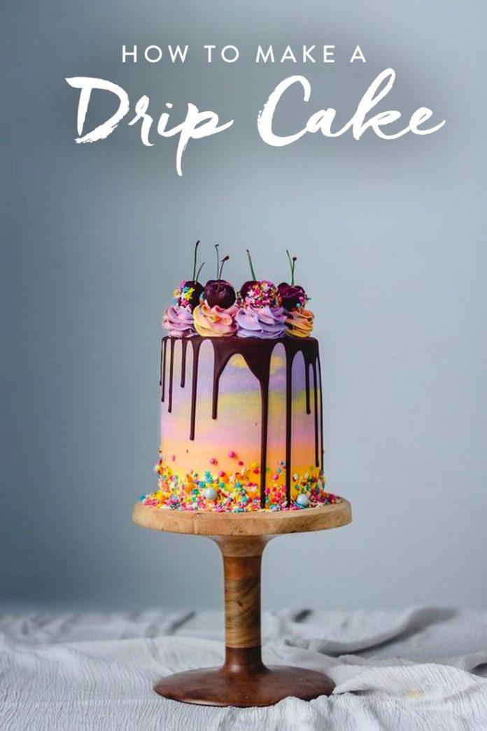 Life Hacks Watch How To Make A Magical Drip Cake Here #