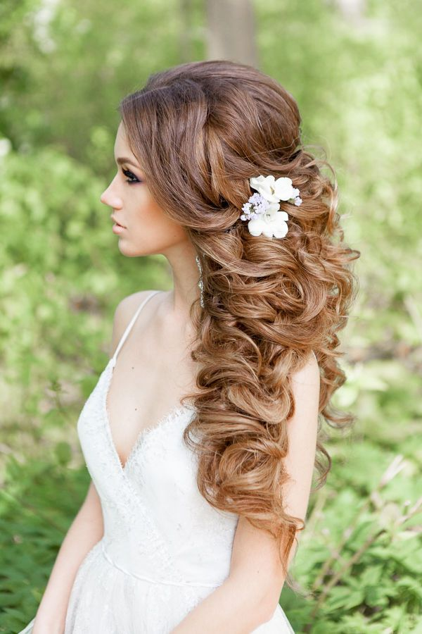 Wedding Hairstyles Messy Long Curly Wedding Hairstyle Www
