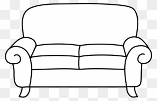 Clip Transparent Stock Sofa Coloring Page Free