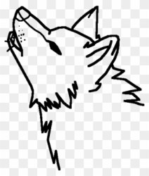 wolf easy drawing howling clipart draw drawings wolves face half moon pinclipart anime clip crescent