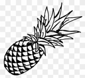 Drawing Pineapple Template Black Pineapple Transparent Background Clipart #347549 PinClipart