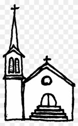 Black And White Free Church Clipart Png Download #5592858 PinClipart