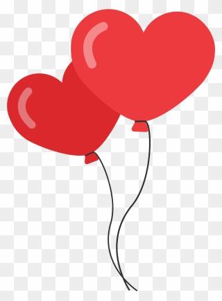 Balon Love Png : balon, Heart, Balloon, Download, PinClipart