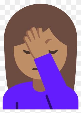 Emoji Girl With Hand Up : emoji, Transparent, Facepalm, Emoji, Clipart, (#5482754), PinClipart