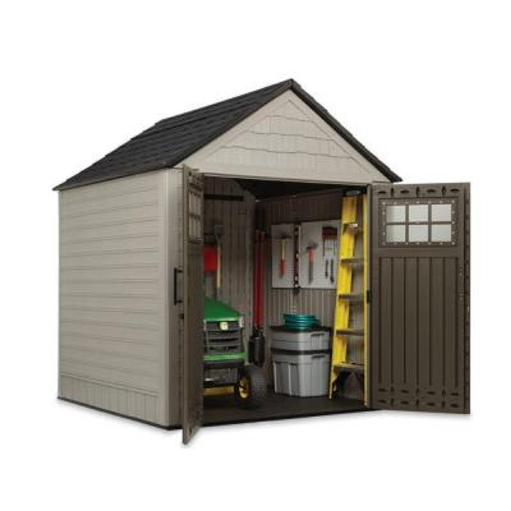 Rubbermaid 7 X Feet Big Max Storage Shed 34 Tool And Sports Rack