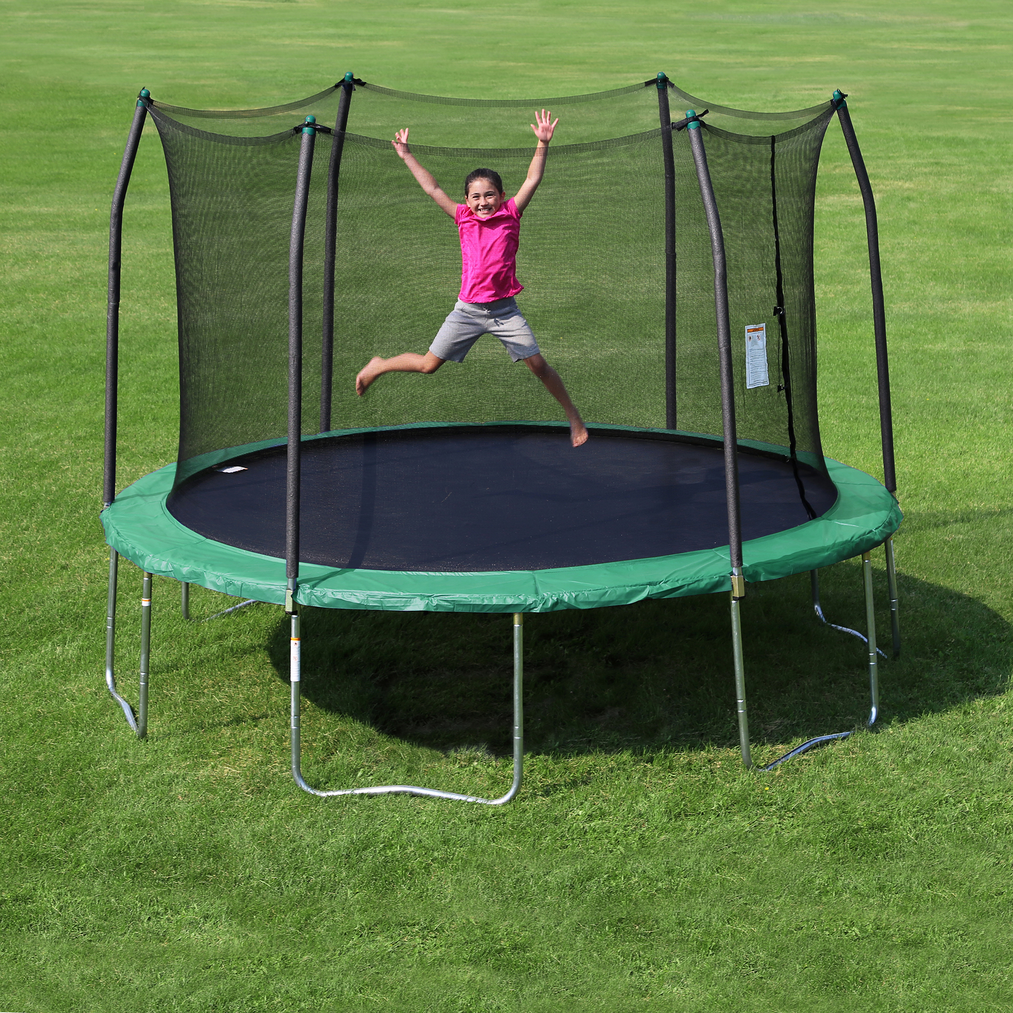 Skywalker Trampolines 12 Foot Outdoor Trampoline With Enclosure Green