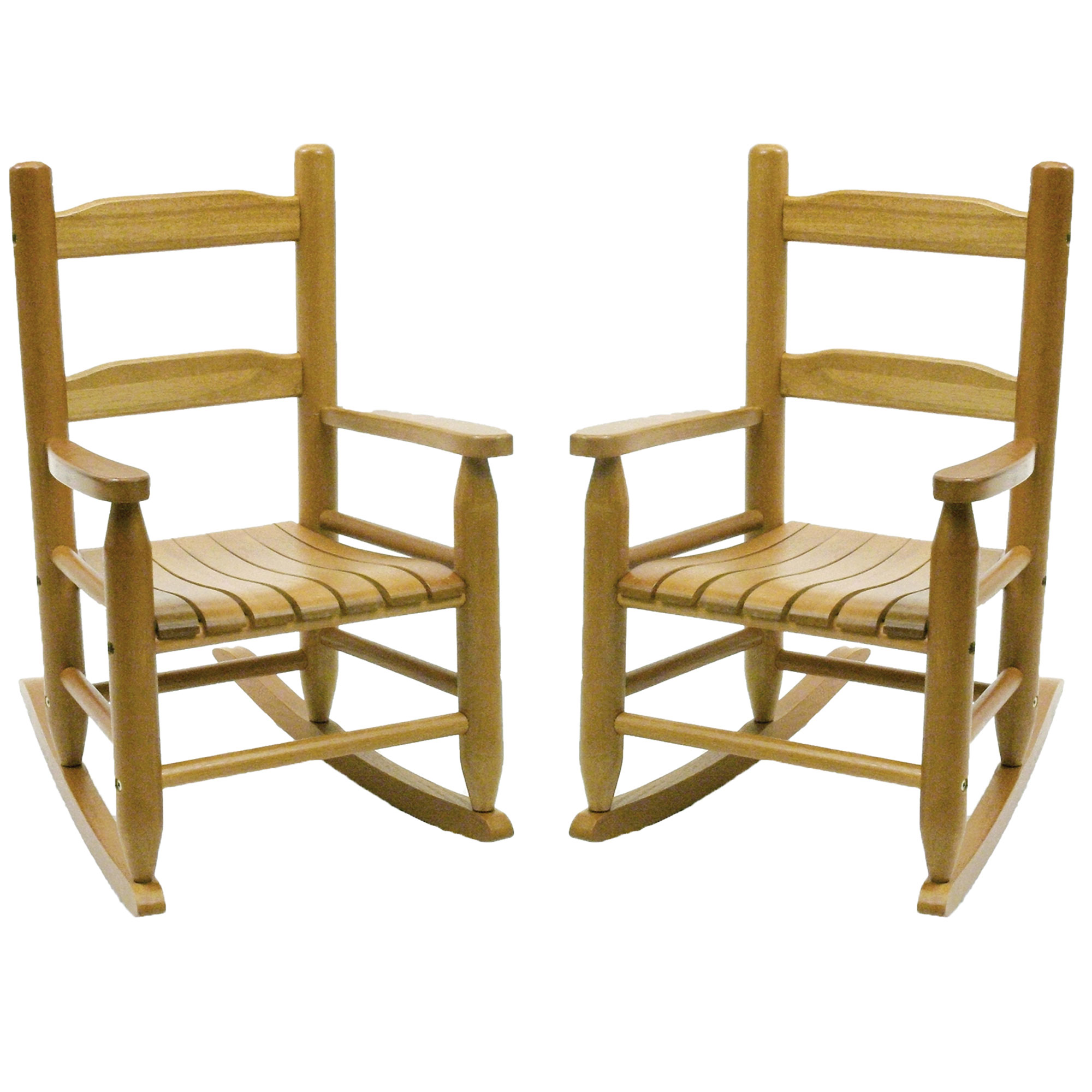 Child Wooden Rocking Chair Details About Lipper Child S Eco Friendly Rubberwood Rocking Chair Natural Finish 2 Pack
