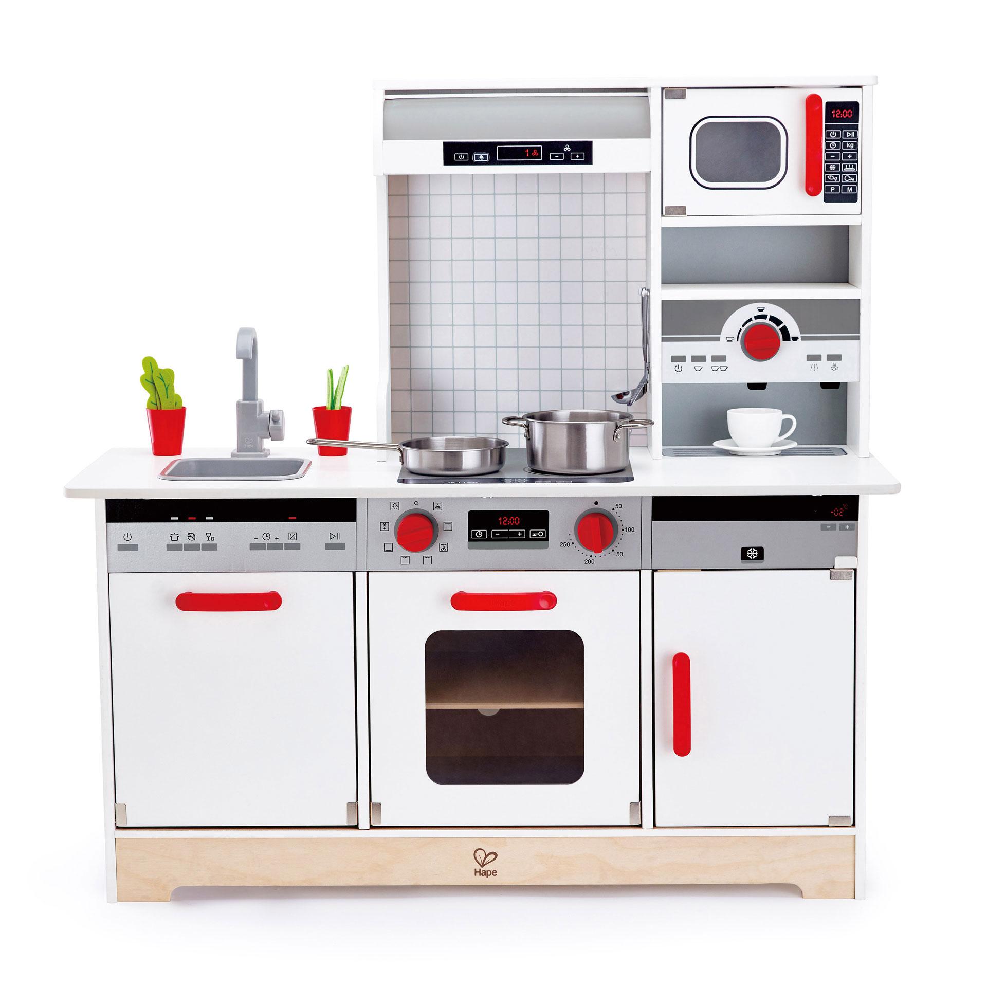 Hape All In 1 Kids Toddler Wooden Pretend Play Kitchen Set