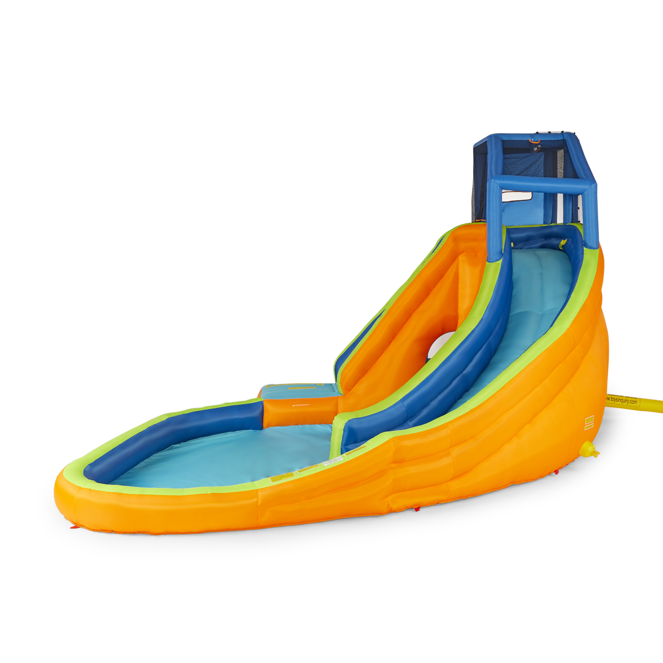 Banzai Sidewinder Falls Inflatable Water Park Play Pool With Slides And Cannons 191124235246