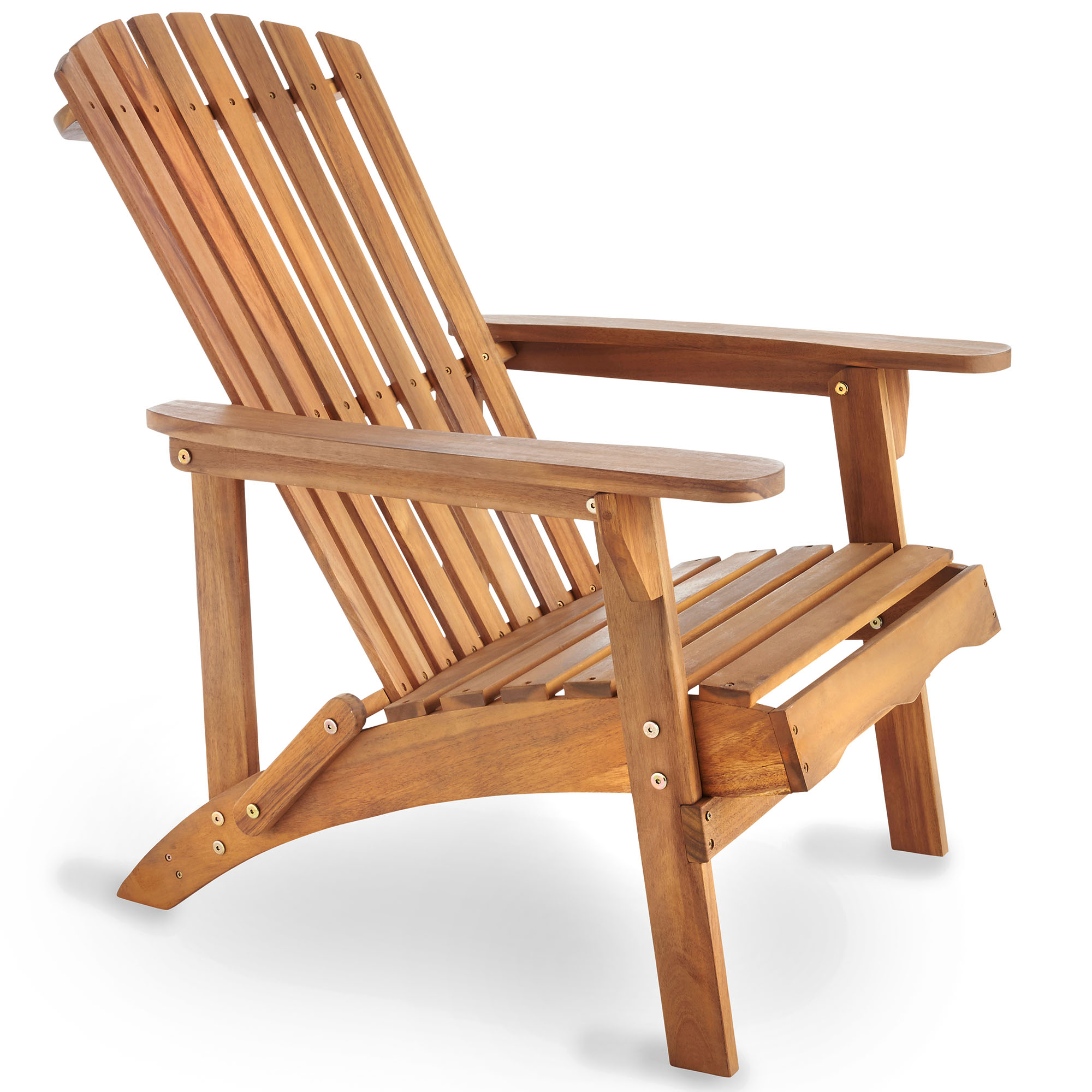 Wooden Chairs Vonhaus Adirondack Chair Outdoor Garden Patio Pool Balcony