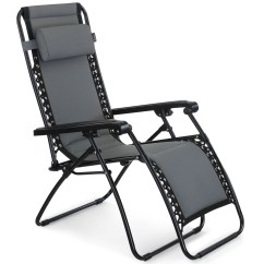 Outdoor Recliner Chairs Uk Bouncy Ball Chair Benefits Vonhaus Oxford 600d Padded Zero Gravity