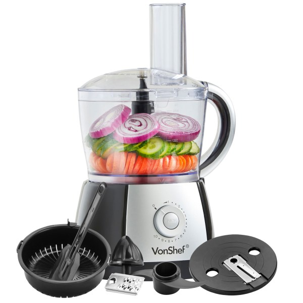 Food Processor with Juicer Attachment