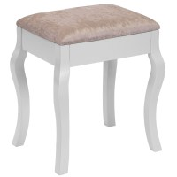 Beautify Vintage Padded Dressing Table Stool Makeup Chair ...