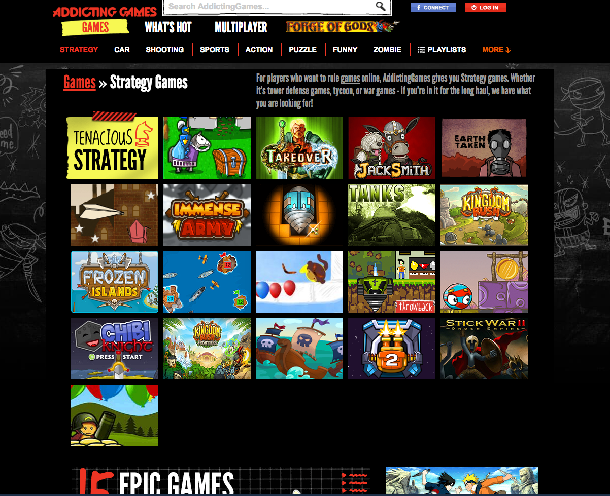 addicting games overall website