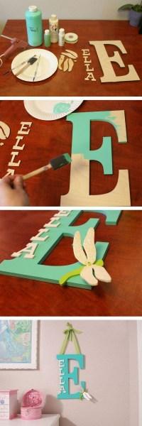 20+ Pretty DIY Decorative Letter Ideas & Tutorials ...