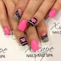 Acrylic Nails For Valentine S Day - Nail Ftempo