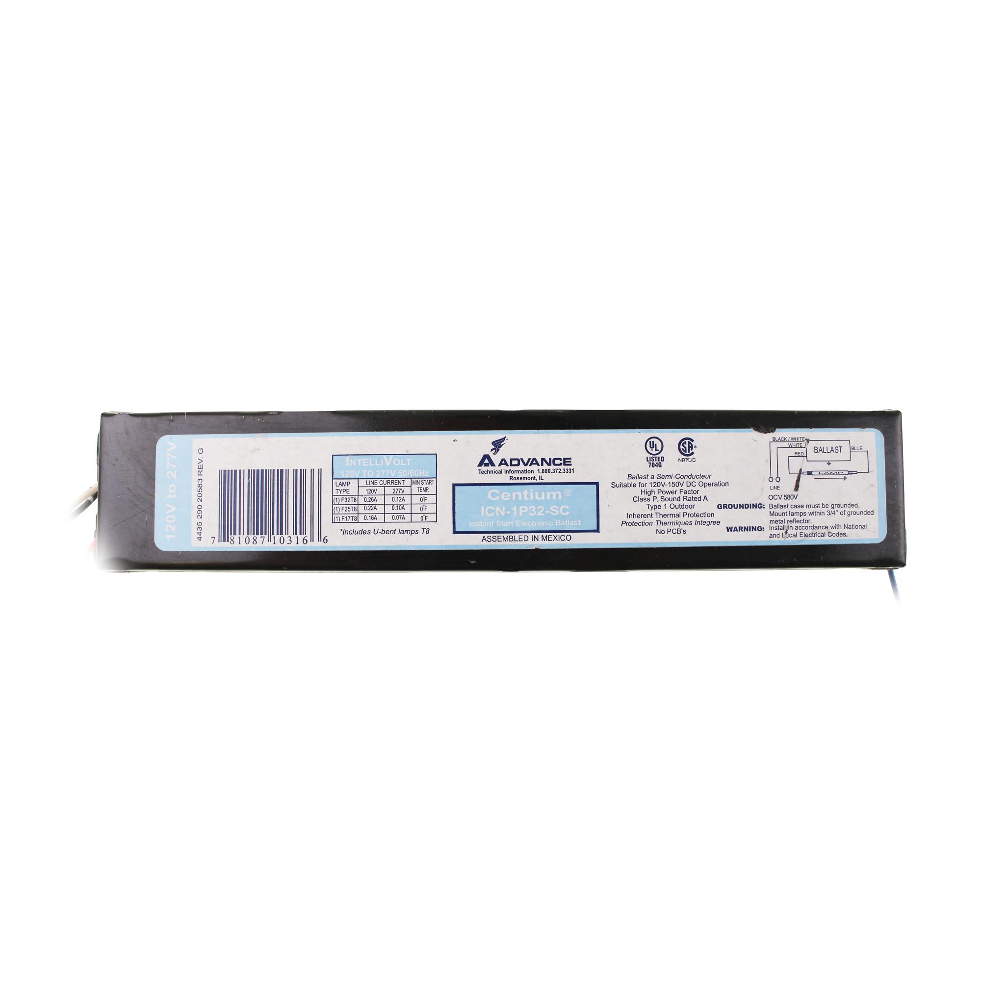 advance t8 ballast wiring diagram faria marine gauges icn 1p32 sc electronic fluorescent 1 lamp
