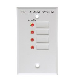 this auction is for 1 est edwards 4za 4 zone alarm led remote annunciator module [ 2000 x 2000 Pixel ]