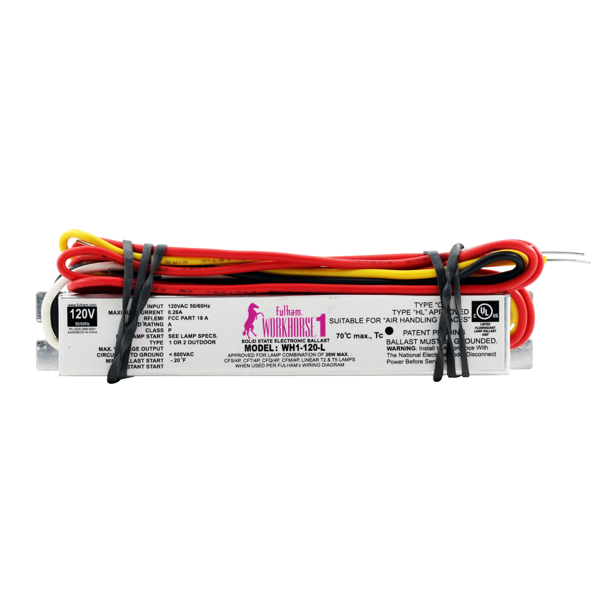 hight resolution of details about fulham wh1 120 l fluorescent ballast 1 lamp t2 t5 cfl 28w 120v 10 pack