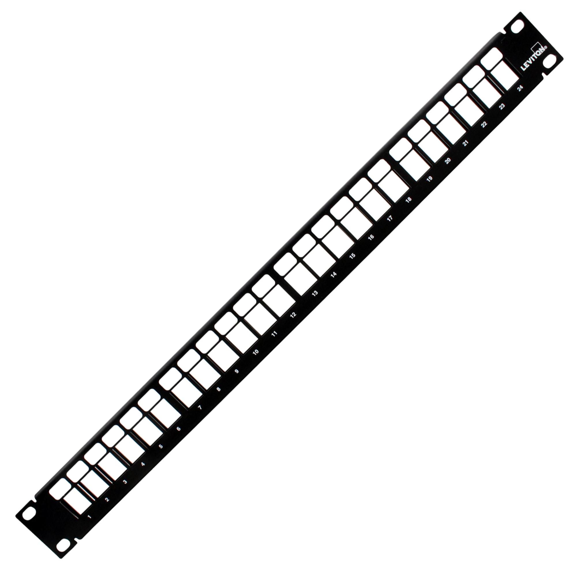 LEVITON 49255-H24 QUICKPORT 24-PORT PATCH PANEL, CABLE
