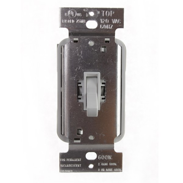 Pass & Seymour Legrand T600- Toggle Dimmer 600w 120v
