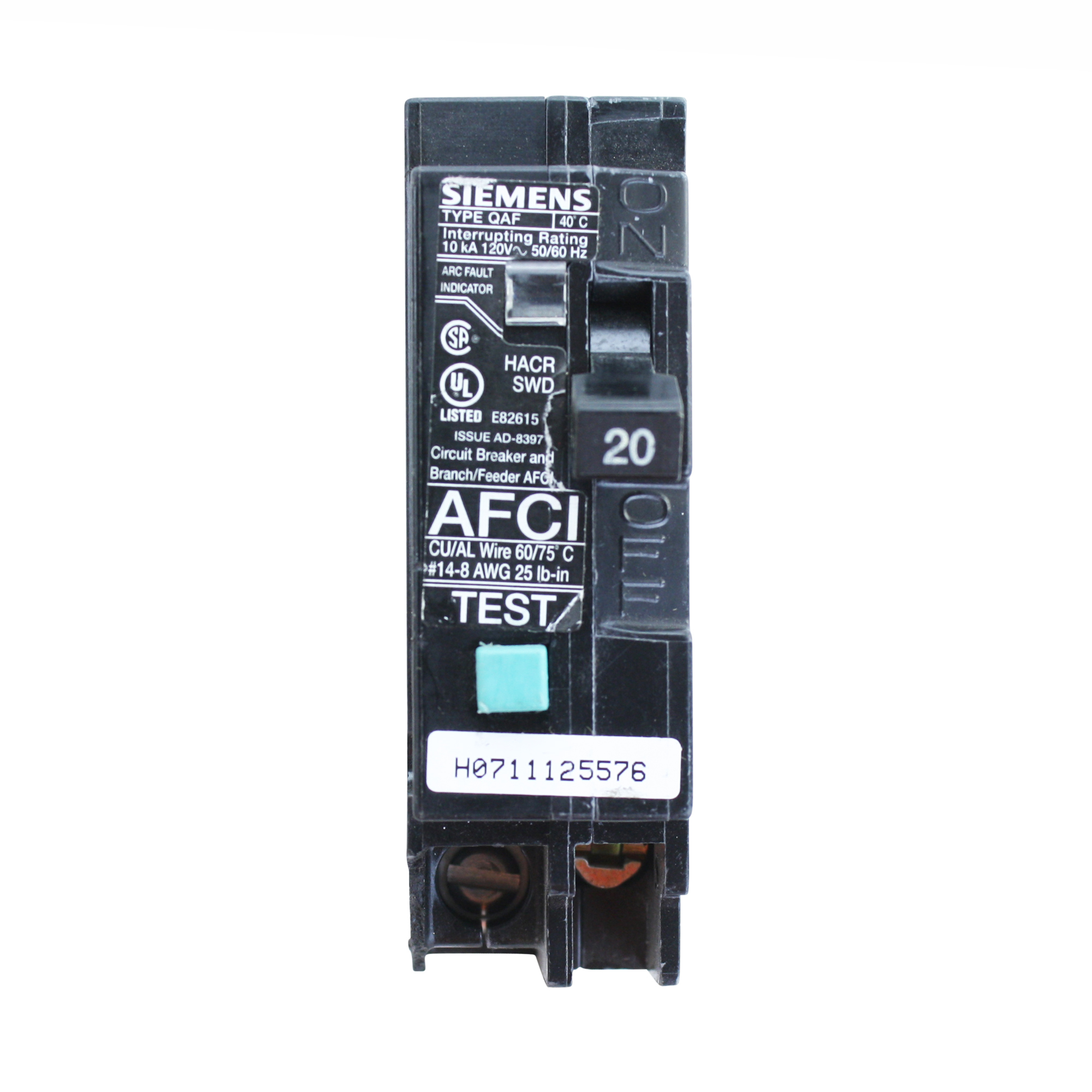 Afci Fact Sheet The Afci The Afci Is An Arc Fault Circuit Interrupter