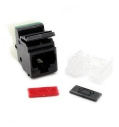 siemon mx5 f01 max module mx cat5e flat utp rj45 jack black a and b [ 2000 x 2000 Pixel ]