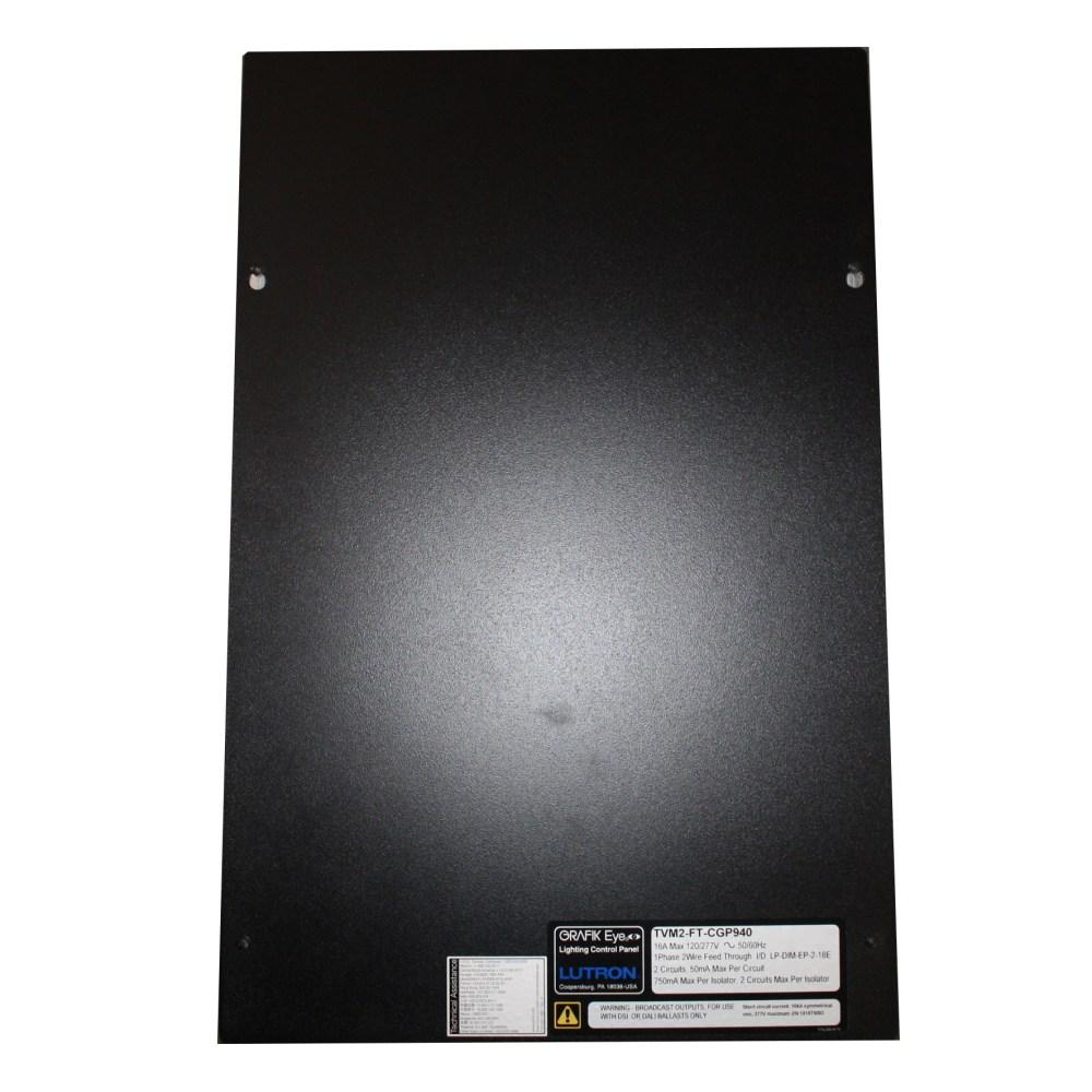 medium resolution of lutron tvm2 ft cgp940 tvm 120 277v grafik eye lighting