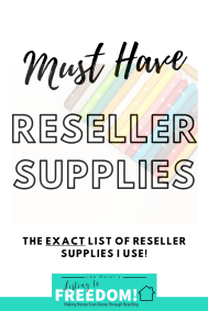Reseller Supplies I Use